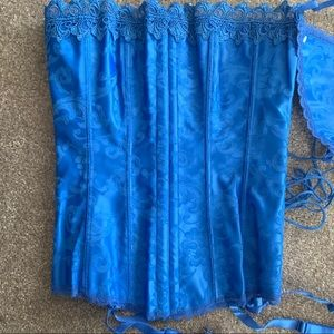 Hollywood Dreams Corset. Marine Blue. Size 32